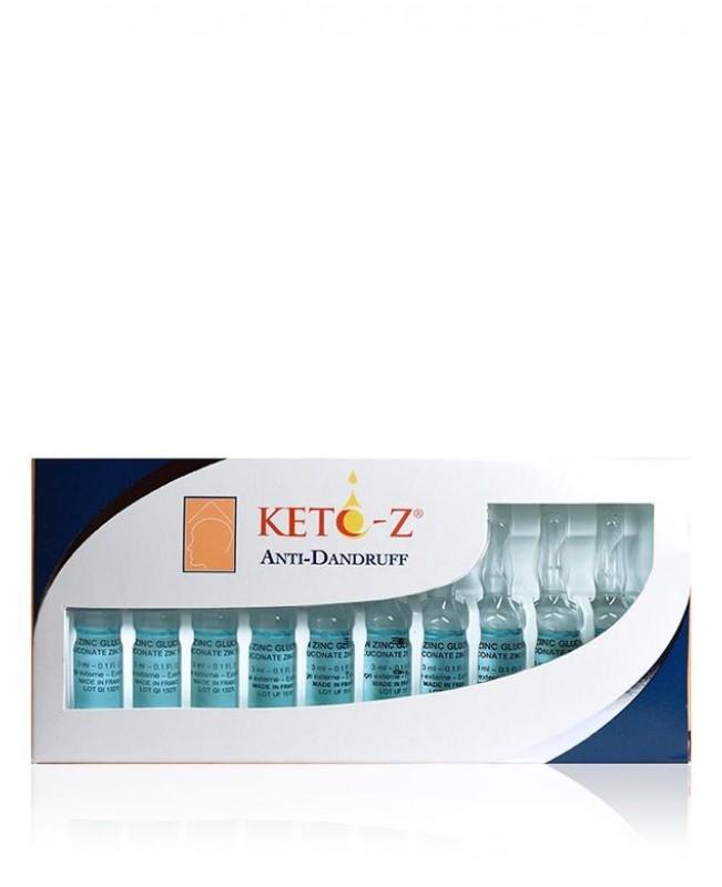 KETO-Z ampulės nuo pleiskanų